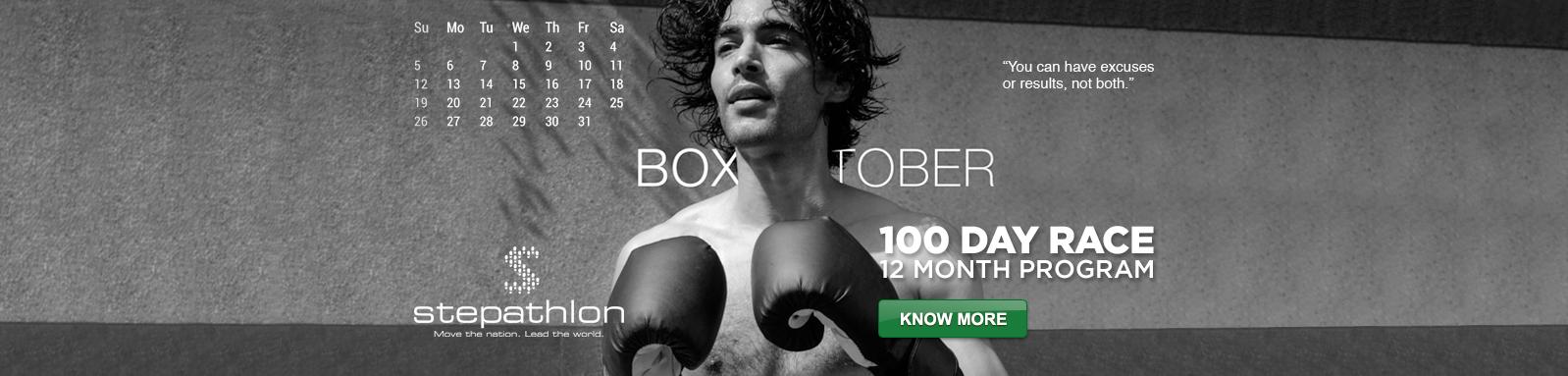 October - Boxtober - Stepathlon 2014 Calendar